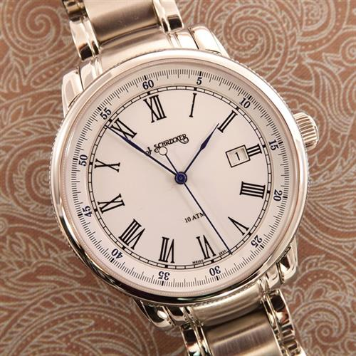 Men's Watch with Stainless Steel Case, Automatic Swiss Movement, Solid Stainless Steel Link Bracelet Style Band