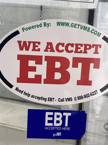 Now excepting EBT cash and food benefits