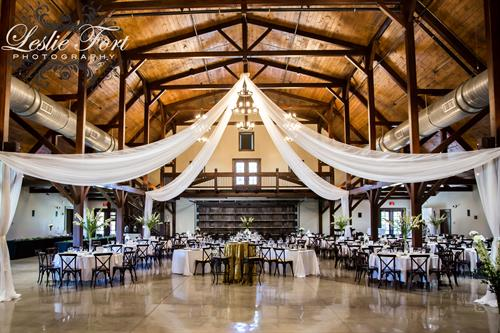 Beautifully Draped Main Event Barn