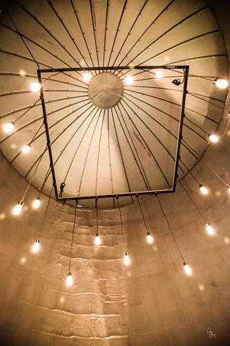 Unique Lighting in the Silo main entrance
