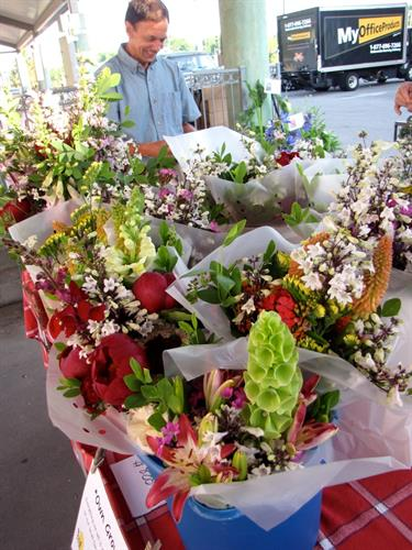 Flowers at the Downtown Hopkinsville Farmers Market