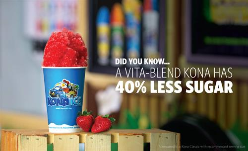 ALL Flavors 40% Less Sugar than regular shaved ice/snow cones