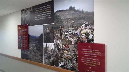 Wall Graphics with 2nd surface prints on acrylic - the project was for the Army National Guard