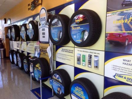 Tire Wall and Great Selections!