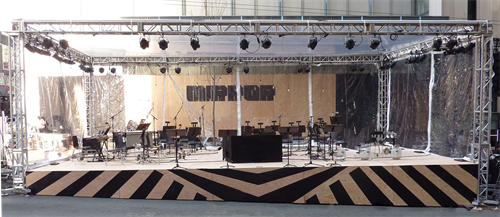 Custom Stage, Seattle Art Museum with Seattle Symphony, MIRROR unveiling