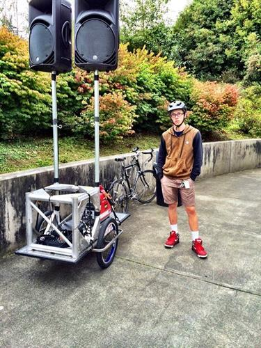 Custom Mobile Bicycle PA system