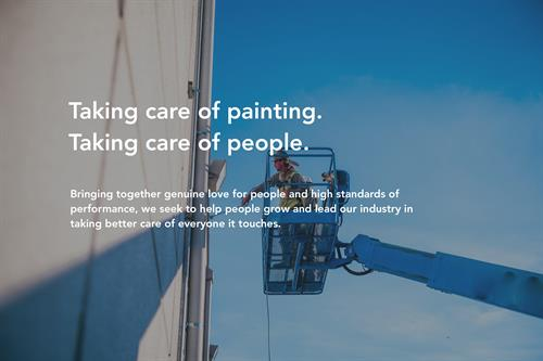 Taking care of painting. Taking care of people.