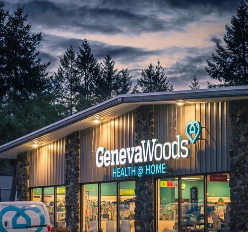 Geneva Woods channel letters