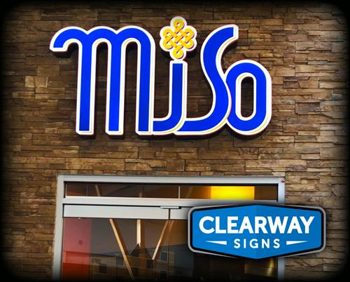 Miso channel letter install