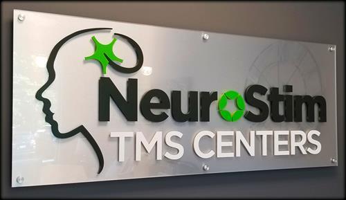 NeuroStim Center interior dimensional sign