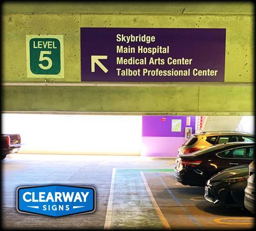 Valley Medical Center parking garage wayfinding
