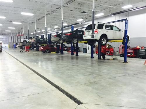 State of the art Ford Service Department