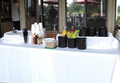 Bloody Mary Bar on the Patio