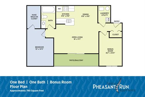 1 Bedroom Plus Bonus Room
