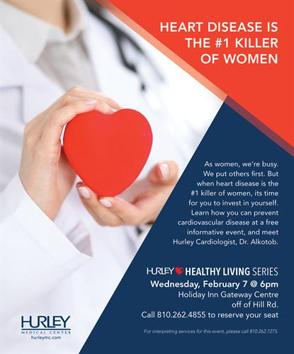 Attend and find out how to prevent heart disease.