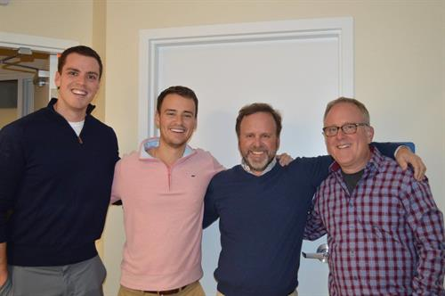 Meet our Docs! Starting on the left is Dr. Dan followed by Dr. Alex, Dr. Brad and Dr. Scott.