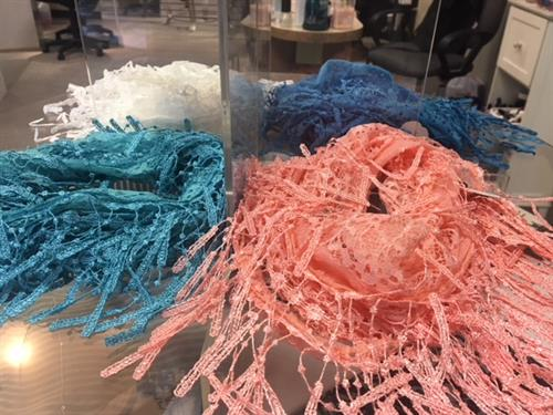Spring 2018 - lacey scarves in brilliant colors