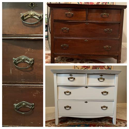 White Antique Dresser