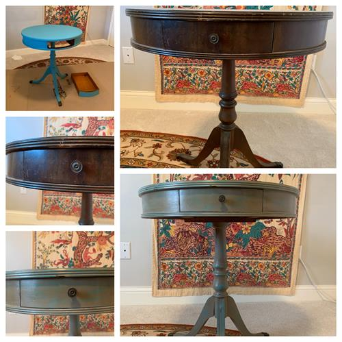 Wild Bramble and Teal Lake Round Table