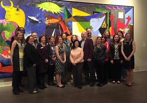 United Way staff with special guests Brandon Carr and Jon Scieszka at our Campaign Celebration.