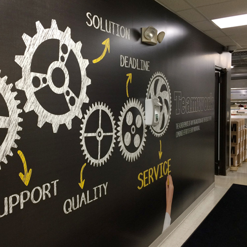 Motivational Wall Murals: Interior Graphics