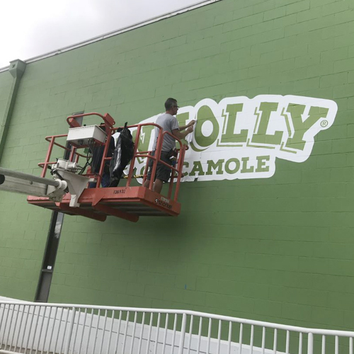 Wholly Guacamole Building: Exterior Graphics