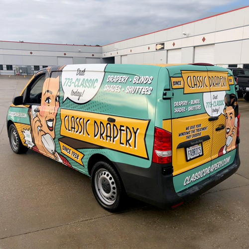 Classic Drapery: Vehicle Branding