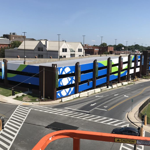 Salisbury, MD Parking Garage: Exterior Graphics