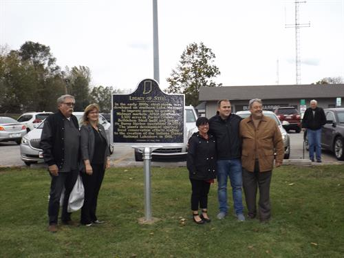 Legacy of Steel Indiana Historical Marker dedicated October 2018