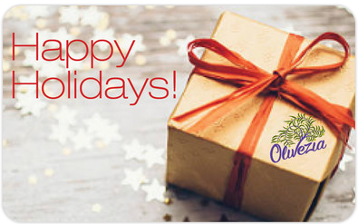 Purchase gift cards on line at www.olivezia.com