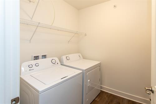 Laundry room with w/d in every apartment home