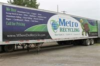 Metro Recycling trailer.