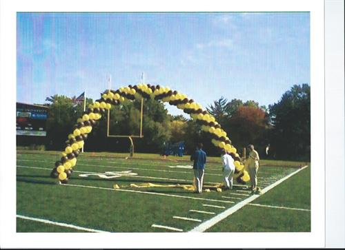 Have your team run through the arch to success!