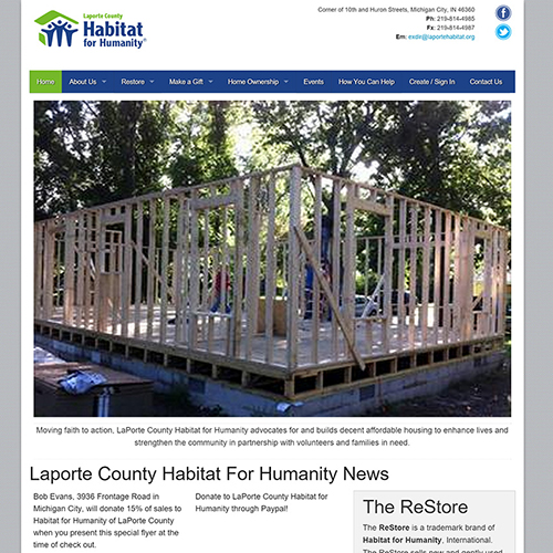 Habitat for Humanity of Michigan City, Indiana