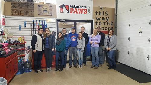 Volunteer project at Lakeshore Paws