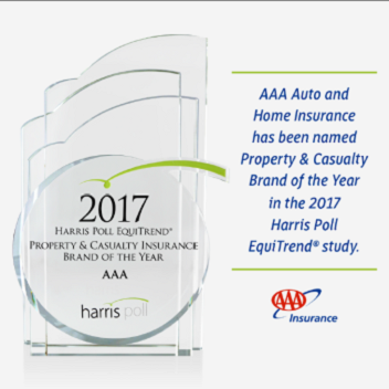 AAA Named Insurance Brand of 2017 by Harris Poll