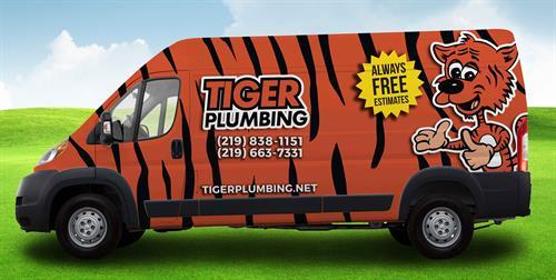 Tiger Plumbing Truck