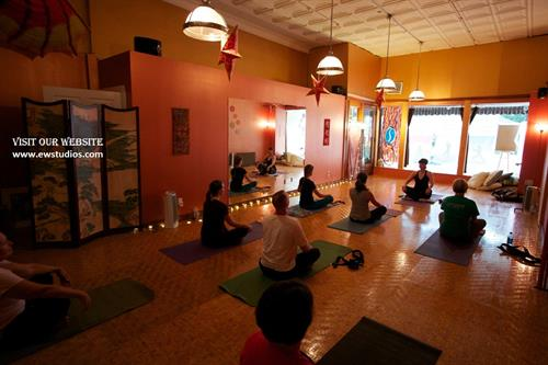 Inside Dragon Room at Yoga studio