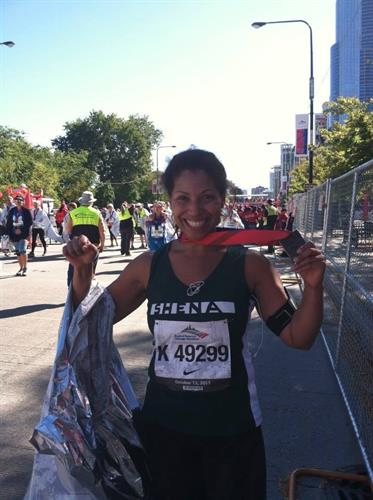 Ran the Chicago marathon to raise money for Mercy Home for Boys