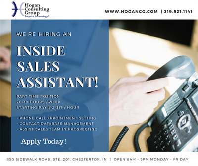 hogan consulting group inc part time inside sales assistant job description duneland chamber of commerce in