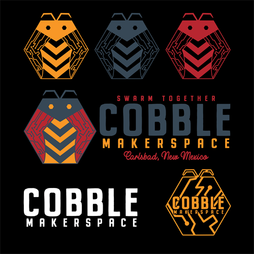 Full Brand Sheet and Color Palette for Cobble Makerspace