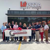Lit Pizza Celebrated Ribbon Cutting with Central Chamber
