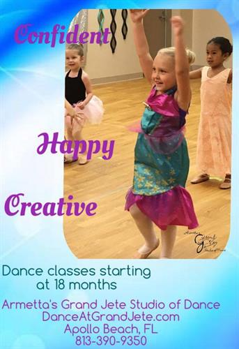 Dance Classes for Ages 18mo+