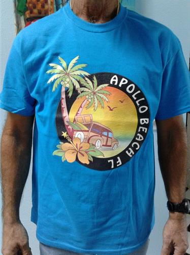 apollo beach t-shirt $18 S,M,L,XL    $29 for XXL and up