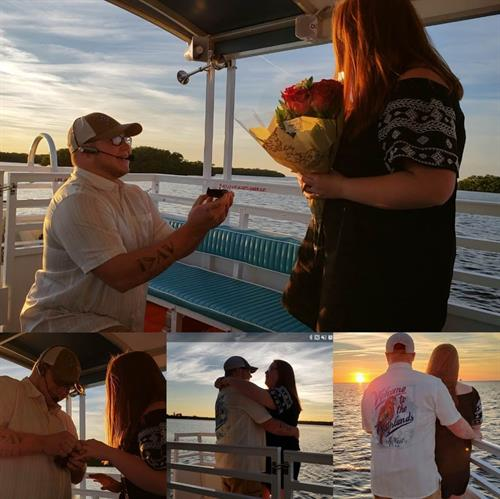 Proposals onboard at Sunset