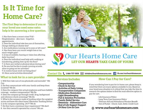 It is Time for Home Care