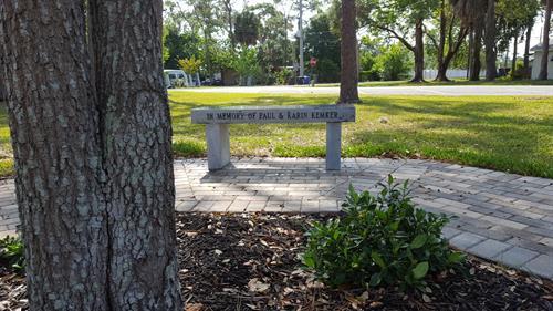 Contemplation Area ~ Dedication bench under tree