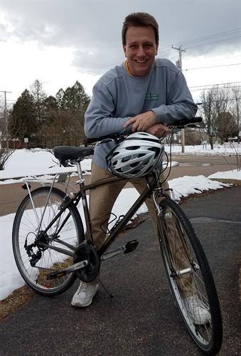 John's new bike