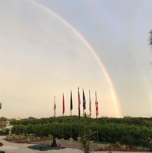 Rainbow over Court of Flags