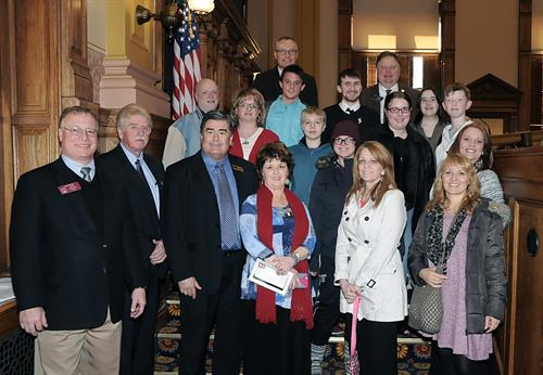 CaPI employees and Youth Action Team members at the Georgia State Capitol with Lieutenant Governor, Casey Cagle, Senator Jeff Mullis, and Representative Tom Weldon